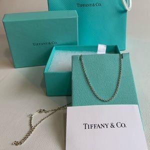 "Tiffany & Co NIB 20"" Sterling a Chain"